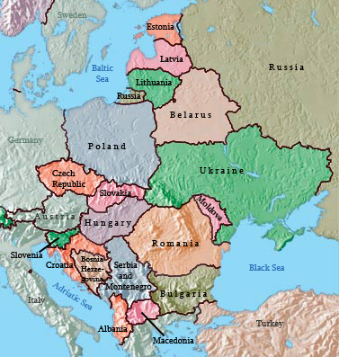 6 facts tell me to bet on eastern europe stocks or etfs map of eastern europe