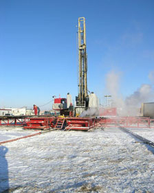 Canadia Gas Drilling
