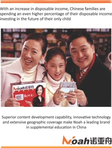 Chinese People invest on education for their children
